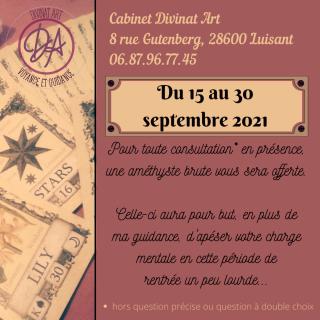 Du 15 au 30 septembre 2021 1